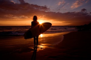 surfing-sunset