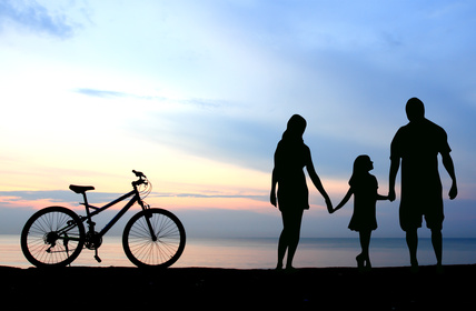 sea-island-bikes-at-beach-sunset